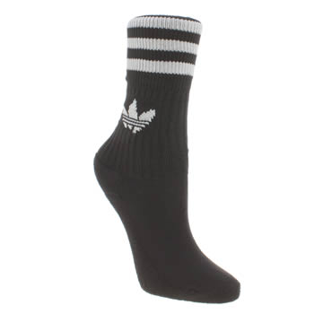 Adidas Black Kids Solid Crew 3 Pack Socks