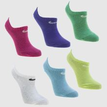 Nike Multi Kids Dri Fit Cotton 6 Pack Socks