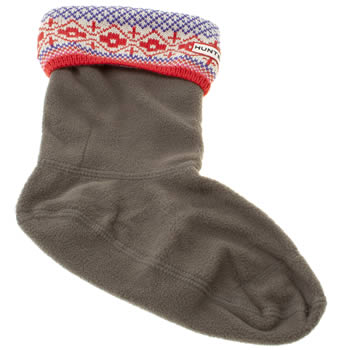 Hunter Multi Short Fairisle Knit Sock Socks