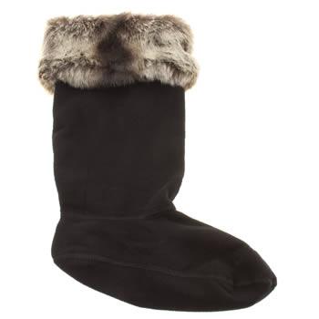 accessories  hunter  grey soft furry cuff socks