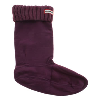 accessories  hunter  purple chunky rib boot socks