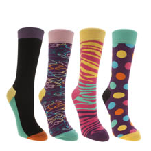 Happy Socks Multi Gift Pack 4 Set Socks
