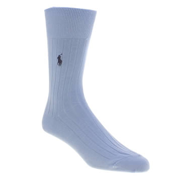 Polo Ralph Lauren Blue Egyptian Ribbed Socks
