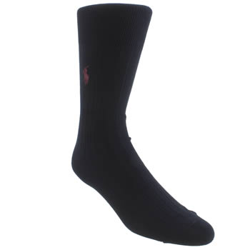 Polo Ralph Lauren Navy Egyptian Ribbed Socks