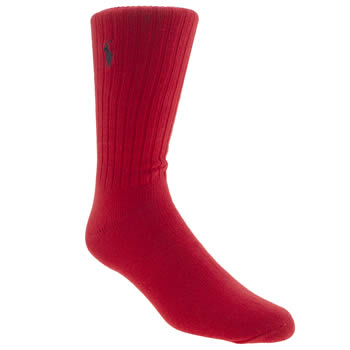 Polo Ralph Lauren Red Casual Crew Socks