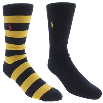 Polo Ralph Lauren Navy Rugby Sock 2 Pack Socks
