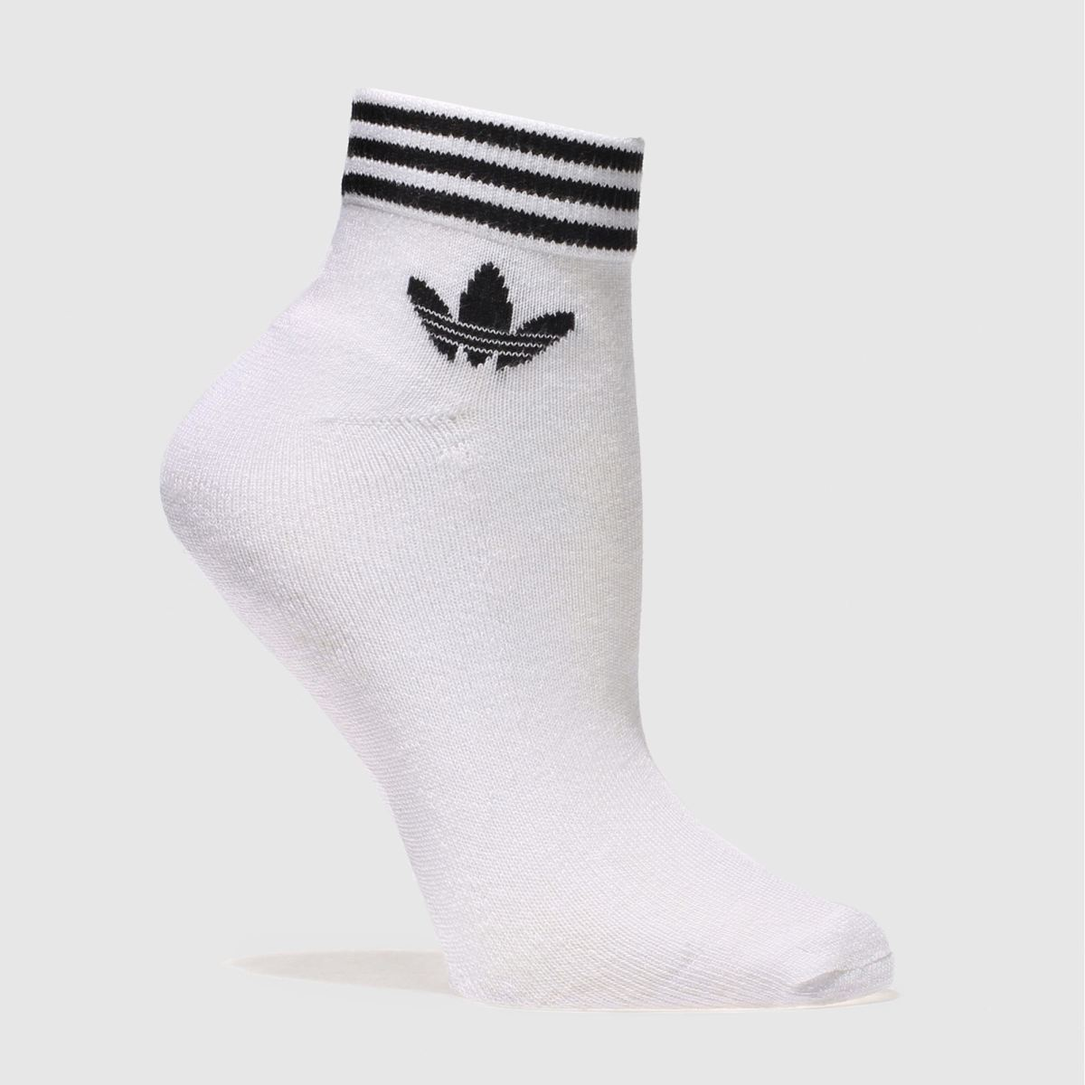 Adidas Adidas White Trefoil Ankle Sock 3 Pack
