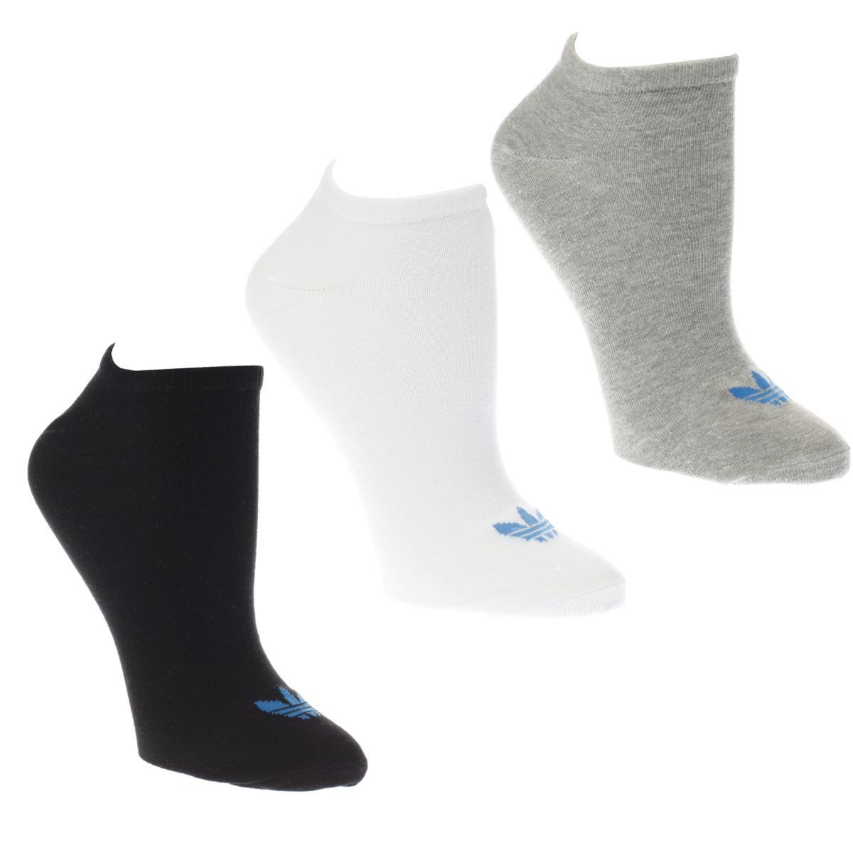 adidas white & black trefoil liner 3 pack