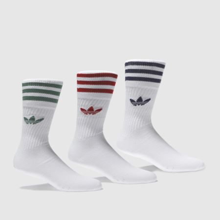 adidas solid crew sock 3 pack v2 1