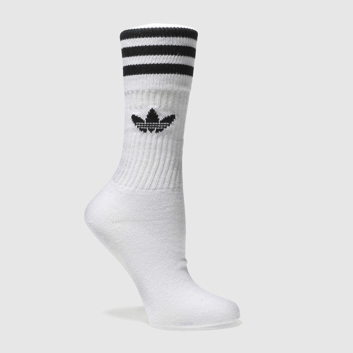 Adidas Adidas White & Black Solid Crew 3 Pack 5.5-8