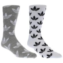 Adidas White & grey Thin Crew Sock 2 Pack Socks