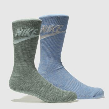 Nike Blue & Green ADVANCE CREW SOCKS Socks