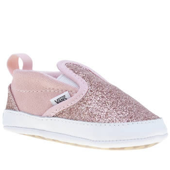 Girls Vans Pink Slip On V Crib Girls Baby