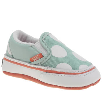 Girls Vans Light Green Classic Slip On Crib Girls Baby