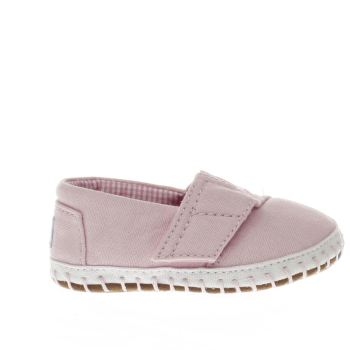 kids toms pale pink alpargata shoes