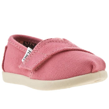 Girls Toms Pink Classic Girls Baby