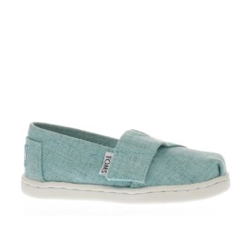 Toms Turquoise CLASSIC Girls Baby