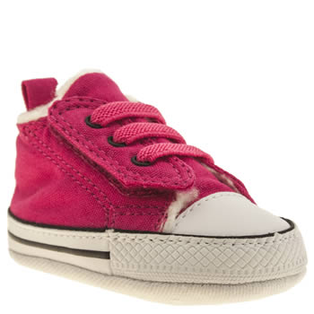 Girls Converse Pink All Star Easy Fur Girls Baby