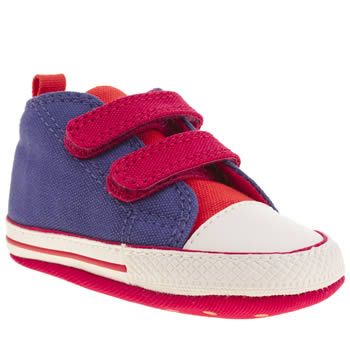 Converse Purple First Star Velcro Crib Girls Baby