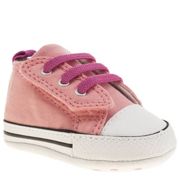 pink converse easy slip crib shoes schuh