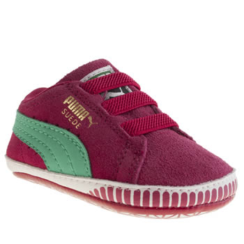 kids puma pink suede classic shoes