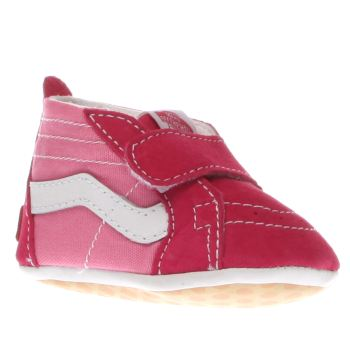 Girls Vans Pink Sk8-hi Crib Girls Baby