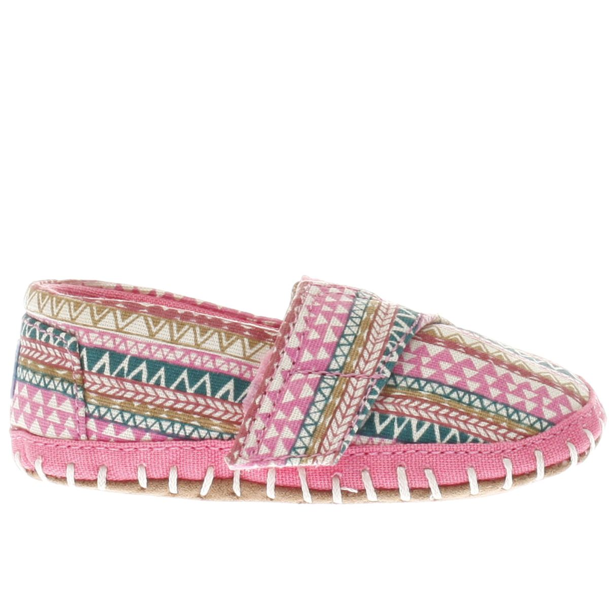 toms pink alpargata crib Girls Baby Shoes