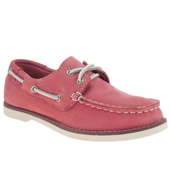 Girls Timberland Pink Seabury 2 Eye Boat Girls Toddler