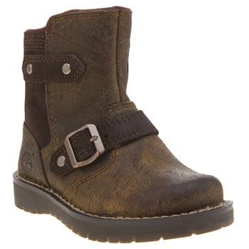 Timberland Dark Brown Kidder Hill Mid Girls Toddler