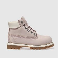 Timberland Pale Pink 6 Inch Classic Boot Girls Toddler