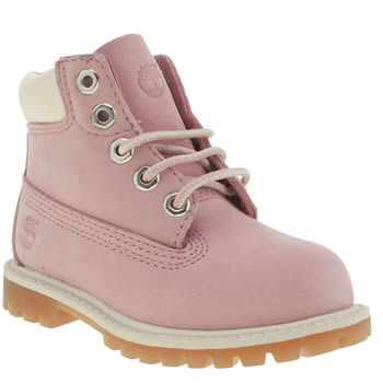 Girls Timberland Pink 6 Inch Premium Girls Toddler