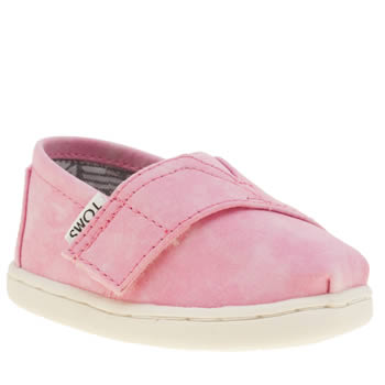 Toms Pink Seasonal Classic Girls Toddler