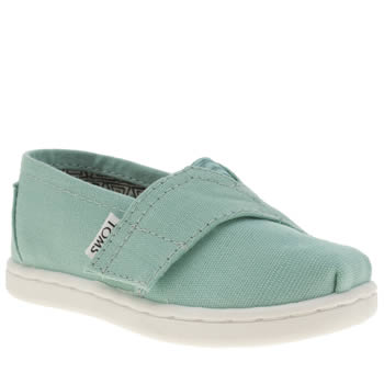Girls Toms Turquoise Seasonal Classic Girls Toddler