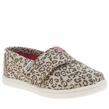 Girls Toms Beige & Brown Seasonal Classic Girls Toddler