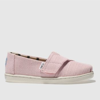 Toms Pale Pink CLASSIC Girls Toddler