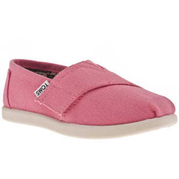 Toms Pink Classic Girls Toddler