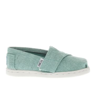 TOMS TURQUOISE CLASSIC GIRLS TODDLER SHOES