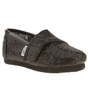 kids toms black classic boots