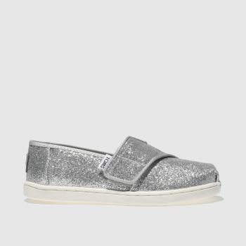 kids toms silver classic glitter boots