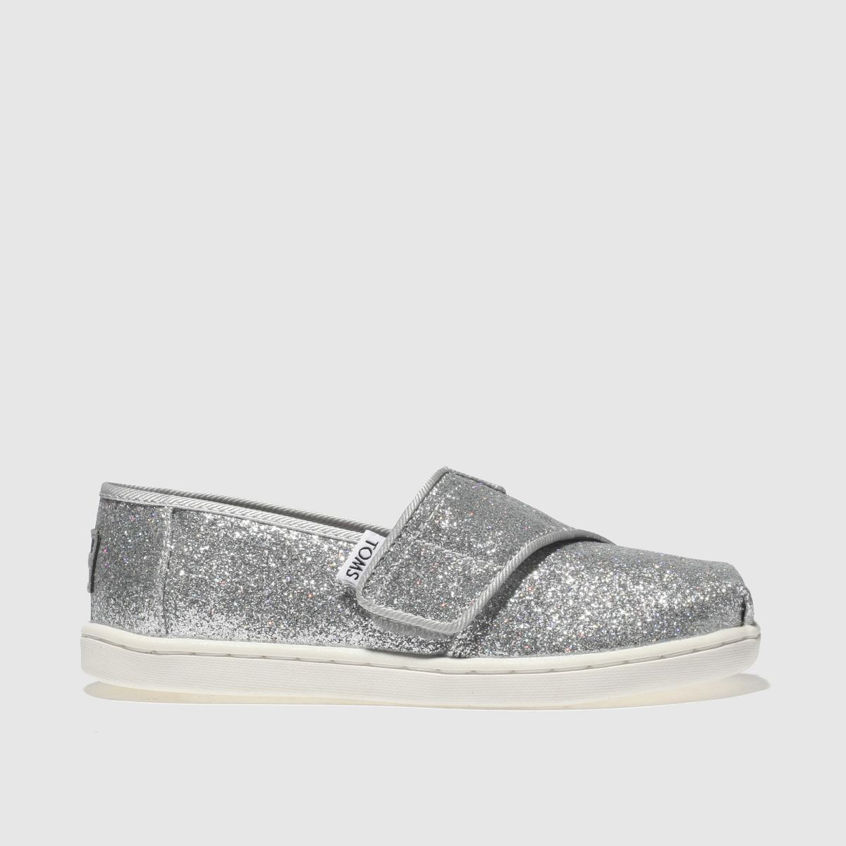 Toms Silver Classic Girls Toddler Toddler