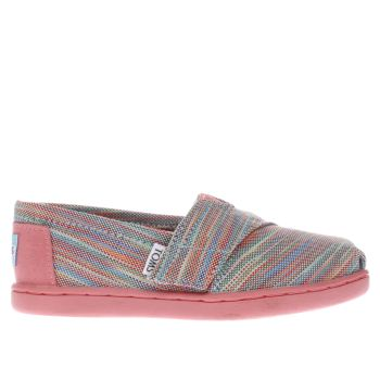 Toms Pink & Green CLASSIC Girls Toddler