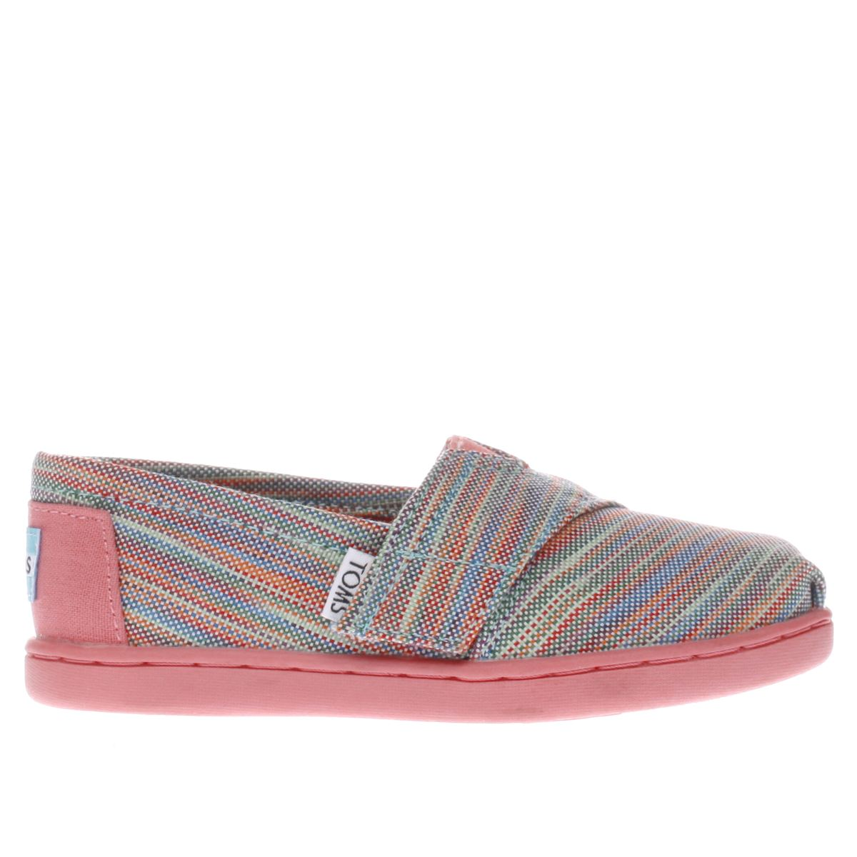 toms pink & green classic Girls Toddler Shoes