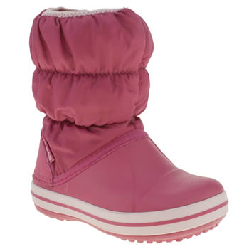 Crocs Pink Winter Puff Boot Girls Toddler