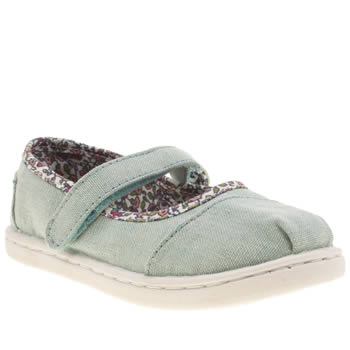 Girls Toms Pale Blue Mary Jane Girls Toddler