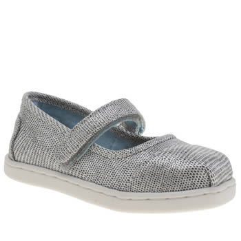 Girls Toms Silver Mary Jane Girls Toddler