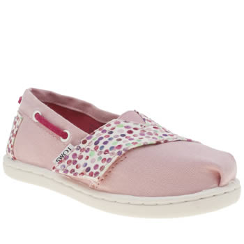 Toms Pale Pink Bimini Girls Toddler