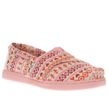 Toms Pink Bimini Girls Toddler