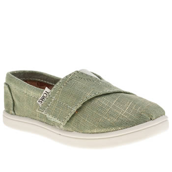 Girls Toms Pale Blue Seasonal Classics Girls Toddler