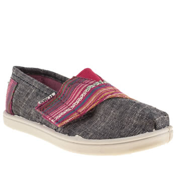 Girls Toms Grey Seasonal Classics Girls Toddler