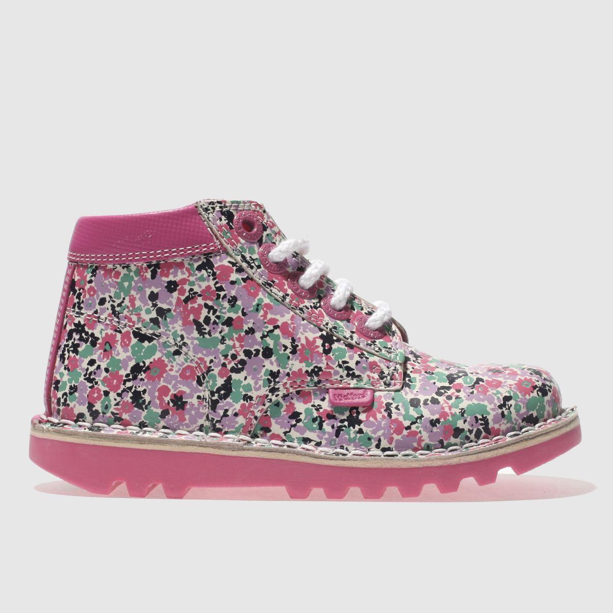Kickers Pink Kick Hi Joules Girls Toddler Boots